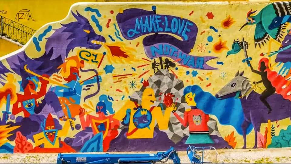 """Baseada no tema """"Make Love Not War"""", Axe promove Paz em Lisboa 1"""