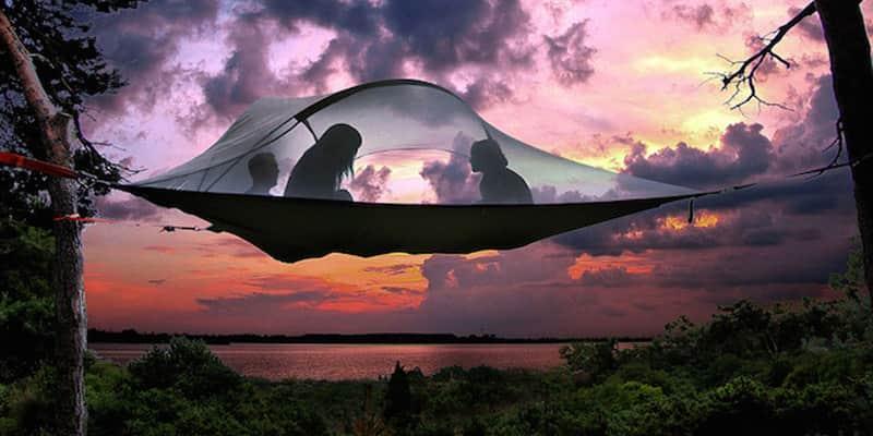 Que tal dormir em uma incrível barraca suspensa em meio à natureza? 2