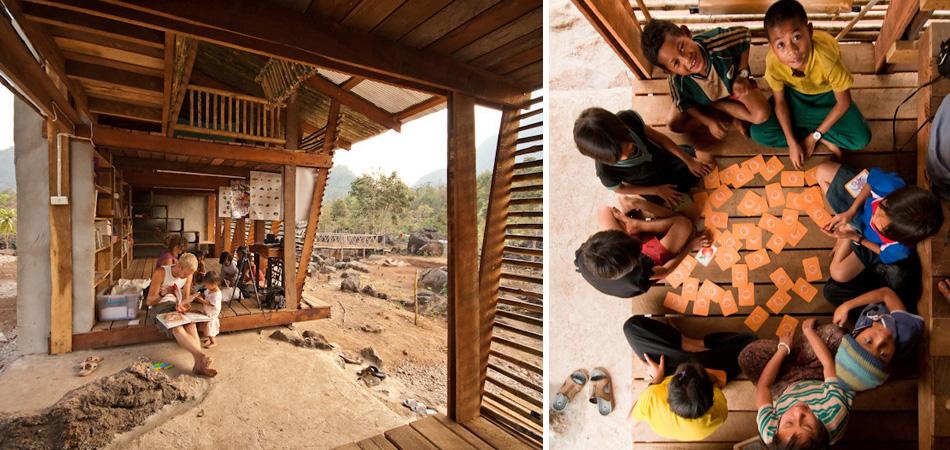 """Estudantes transformam área """"inútil"""" de orfanato em uma incrível biblioteca aberta 2"""