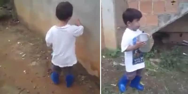 Mãe filma filho deficiente visual superando seu primeiro desafio na vida