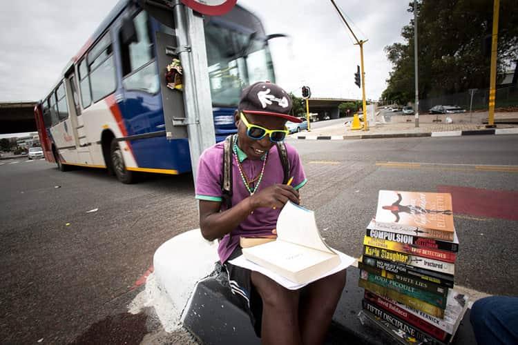 PHILANI DLADLA BOOKWORM; JOHANNESBURG; SOUTH AFRICA