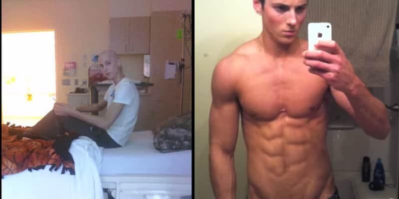 Após curar-se de um câncer, esse jovem resolveu cuidar do corpo e vira fisiculturista 4
