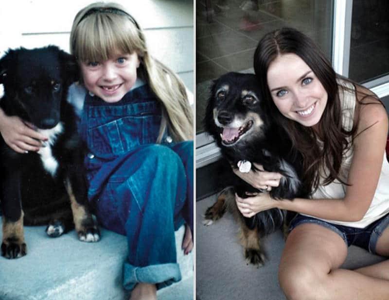 Antes e Depois: quando os animais crescem com o seus donos 1