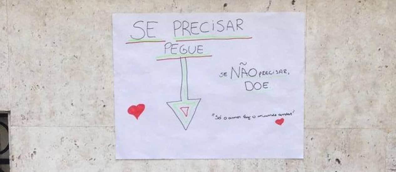 Campanha despretensiosa de doação no Rio ganha força na web e já está em outros estados