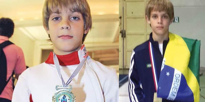 Esgrimista brasileiro de 11 anos mostrou que não existe idade para se ter caráter