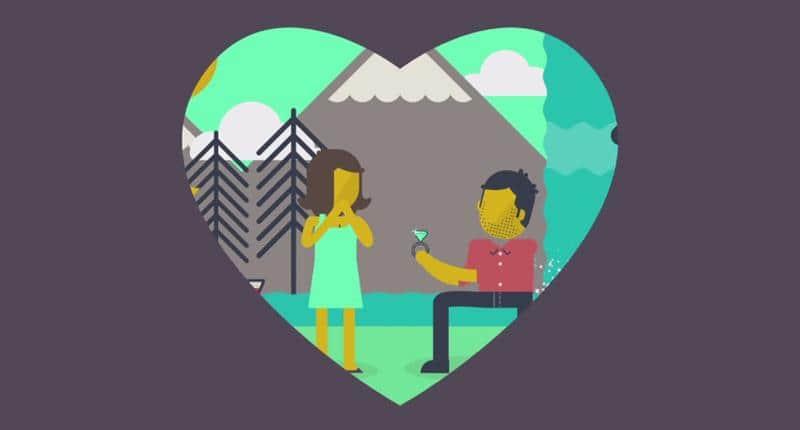 Homem faz linda animação para pedir namorada em casamento 1