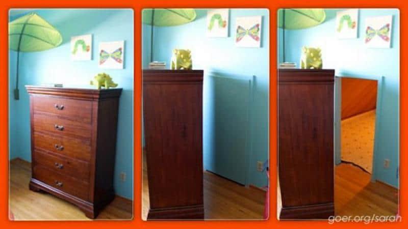 Pais criam sala de tesouro secreto para filho de 4 anos 1