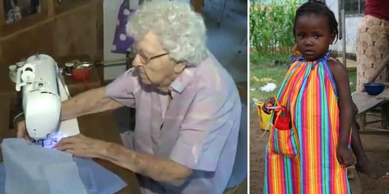 Idosa de 99 anos ajuda crianças da África costurando um vestido por dia 2