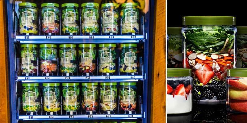 'Vending machine' que oferece saladas e alimentos saudáveis 1