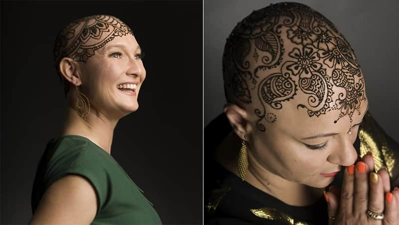 Belas coroas de Henna trazem confiança e alegria para mulheres com câncer 4