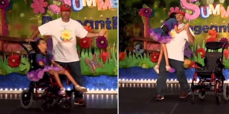 Pai dança com filha deficiente de 12 anos e faz todos se emocionarem 1