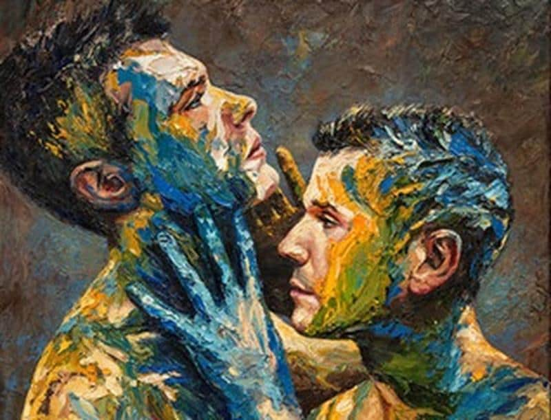 Artista desafia as convenções em torno da masculinidade em sua nova série de pinturas 1