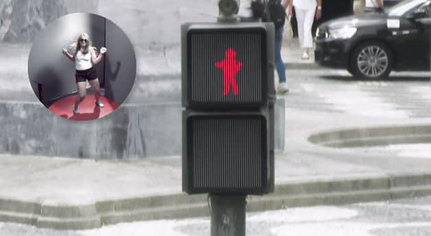 'Semáforo bailarino' faz pessoas pararem mais nas ruas e aumenta a segurança do pedestre 2