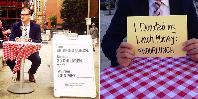 Uma vez por semana ele não almoça para arrecadar refeições para crianças que não tem o que comer 1