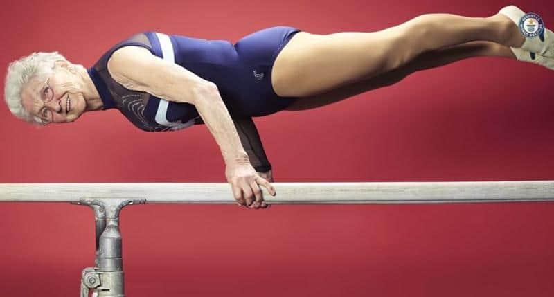 Conheça a mais velha ginasta do mundo com 88 anos de idade 3