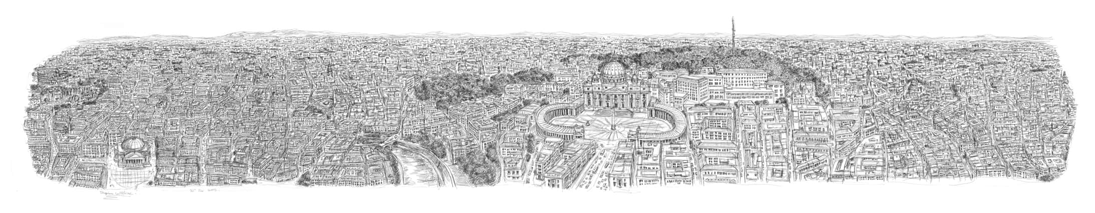 rome_panorama_by_stephen_wiltshire