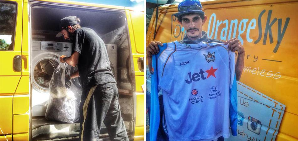 Dois amigos australianos transformam própria van em lavanderia móvel para moradores de rua 2