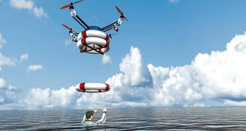 Estudantes iranianos criam drone que pode encontrar pessoas se afogando e jogar bóias para salvá-las  3