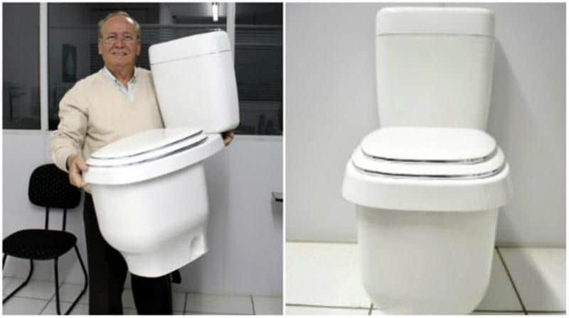 Brasileiro inventa novo vaso sanitário que é 5 vezes mais econômico que o tradicional 1