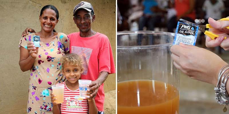 Sachê capaz de purificar água contaminada e transformá-la em potável chega ao Brasil
