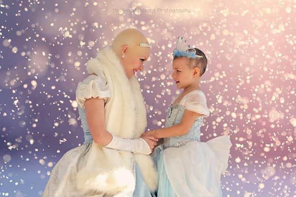 Cinderela careca faz surpresa para garota de 5 anos com leucemia 2