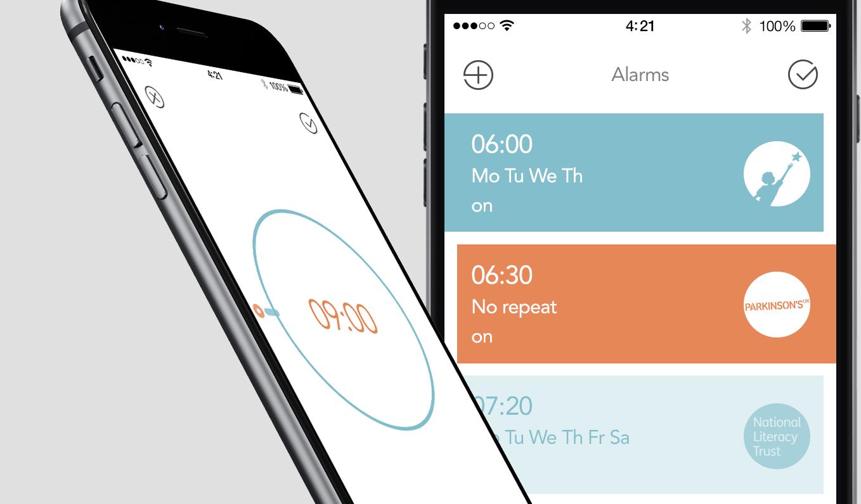 """App despertador doa dinheiro para caridade toda vez que você aperta o botão """"soneca"""" 1"""