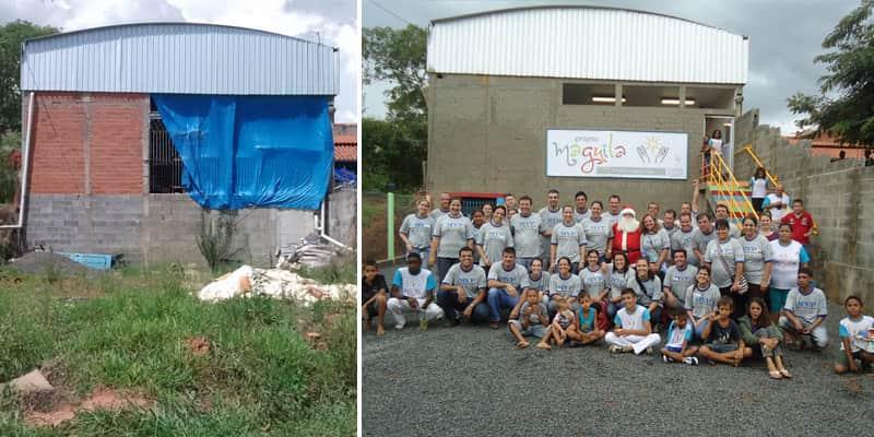 Funcionários voluntários se mobilizam em ação social em prol de crianças e adolescentes de município de SP 2