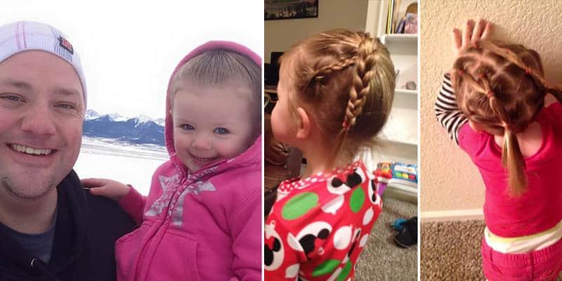 Pai solteiro faz curso para aprender a fazer penteados para a filha de 3 anos 2
