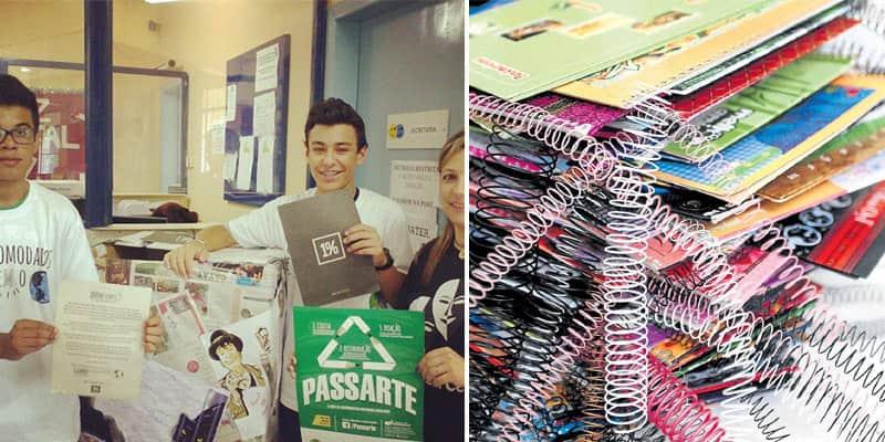 Seus materiais escolares usados podem ser reciclados e entregues para crianças que não poderiam pagar por eles 1