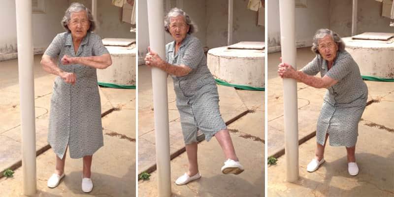 Vovó ensina rotina diária de exercícios, no alto de seus 98 anos 1
