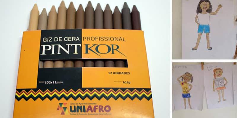 Empresa lança linha de giz de cera com 12 cores de pele 1