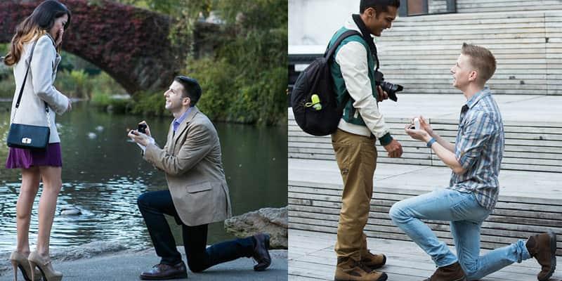Secretamente, fotógrafo registra pedidos de casamento em Nova York 1