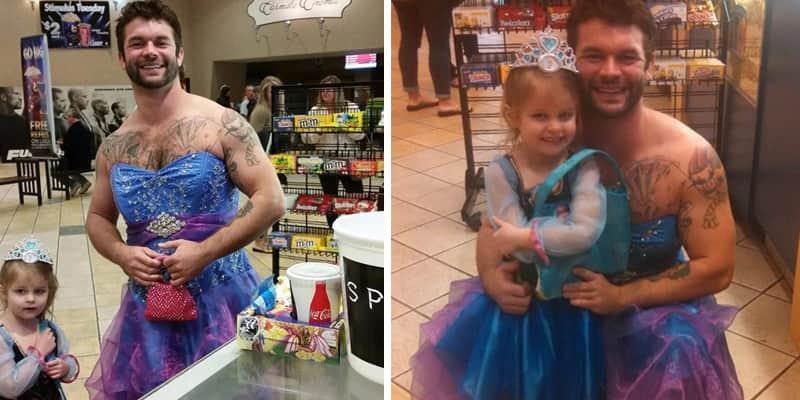 Melhor tio do mundo: ele se vestiu de princesa de Frozen para levar sobrinha ao cinema 1