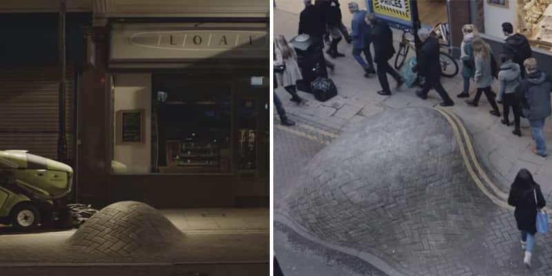 """Campanha de conscientização do câncer mostra um """"tumor"""" que cresce no meio da rua e as pessoas ignoram completamente 2"""