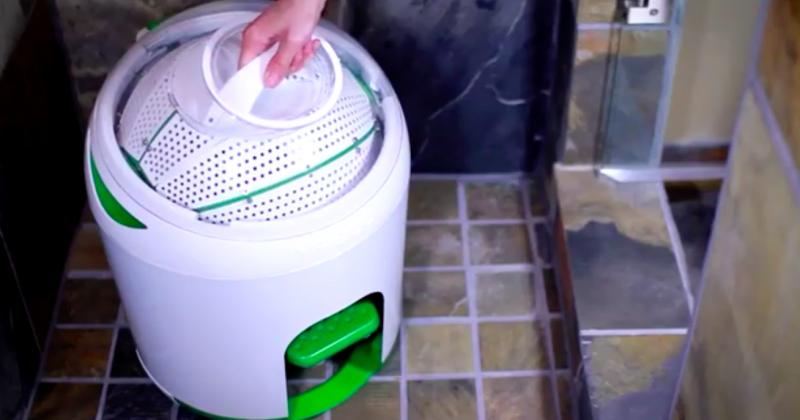 Máquina de lavar portátil funciona sem eletricidade 2