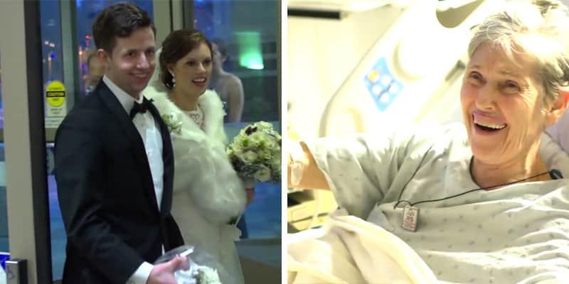 Noivos fugiram da própria festa de casamento para visitar avó internada da noiva 3