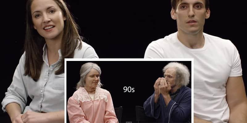 Experimento coloca um casal prestes a casar, para se verem com 50, 70 e 90 anos 2