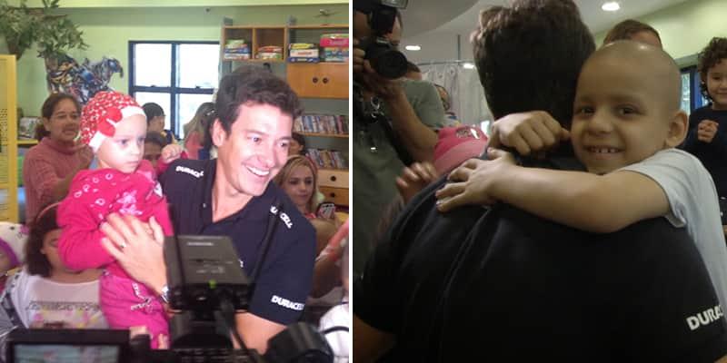 Rodrigo Faro chega de surpresa no Graacc para alegrar crianças com câncer 2