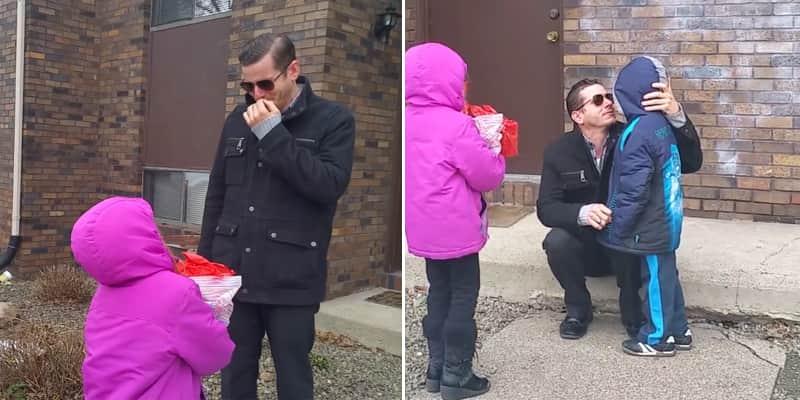 Graças a um óculos especial, pai daltônico consegue ver os filhos e o mundo ao redor com as verdadeiras cores 3