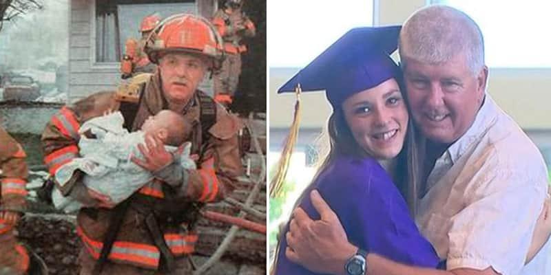 Bombeiro vai à formatura de jovem que resgatou quando ela era bebê 1
