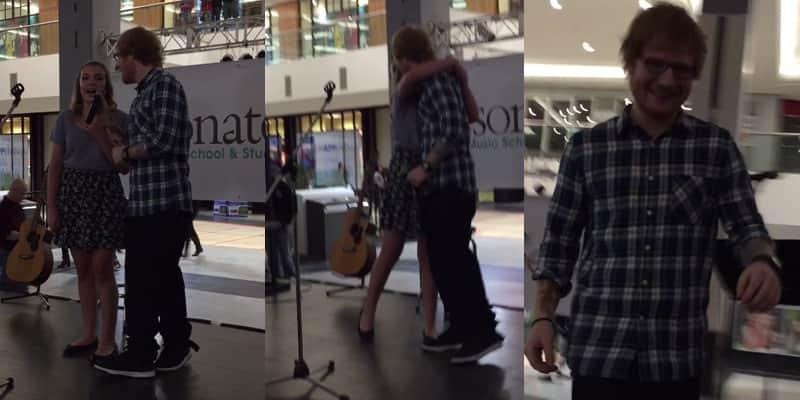 Ed Sheeran surpreende moça que cantava sua música e se junta a ela em dueto improvisado 2