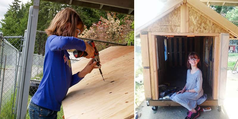 Menina de 9 anos constrói abrigos para moradores de rua nos EUA 10