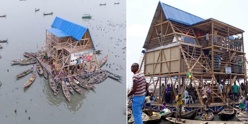 Comunidade que vive na água na Nigéria ganha escola flutuante sustentável 1