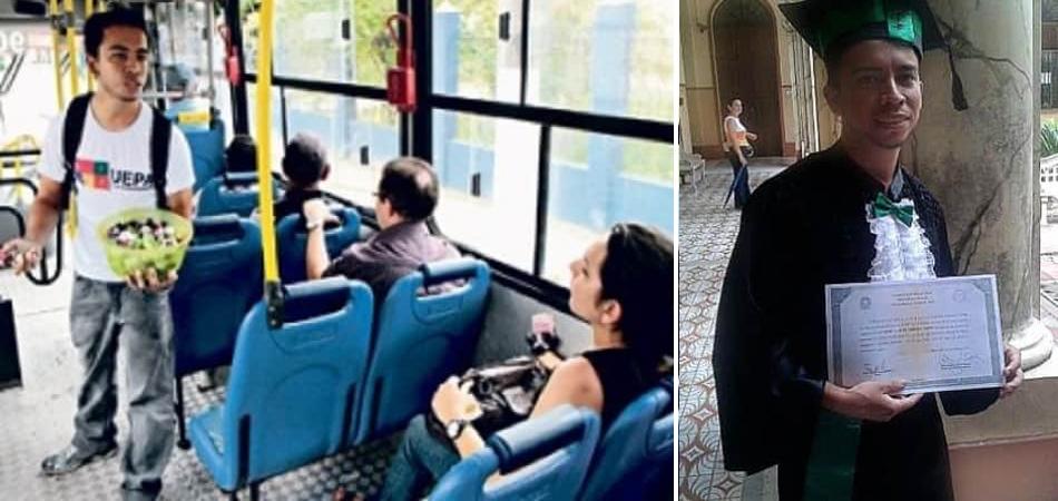 Estudante que vendia bombons no ônibus para pagar faculdade se forma em medicina 1