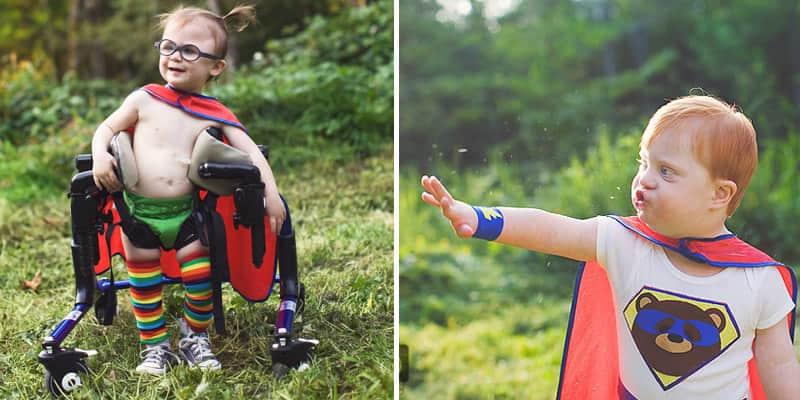 Crianças com necessidades especiais viram super-heróis em ensaio poderoso 1