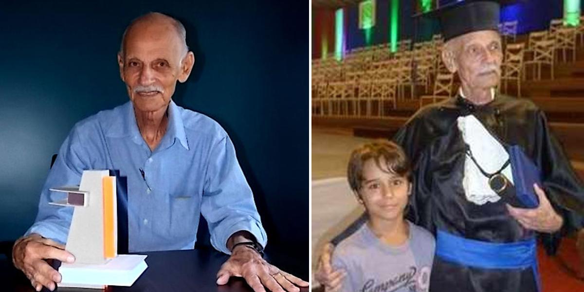 Determinação: Aos 83 anos, esse senhor se formou em arquitetura 2