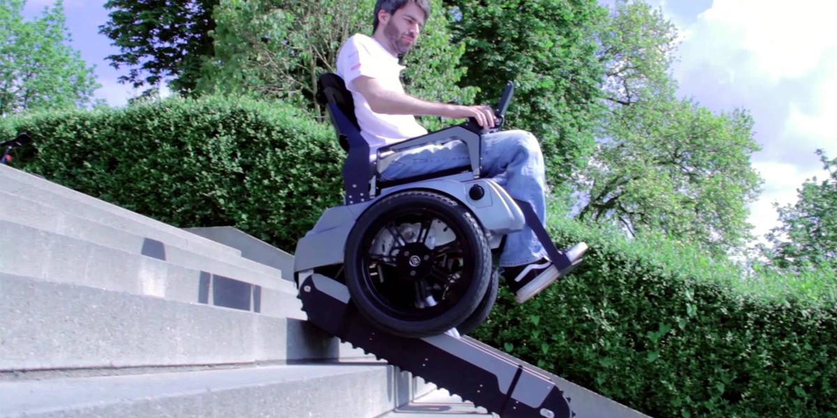 Estudantes suíços criam cadeira de rodas capaz de subir escadas 1