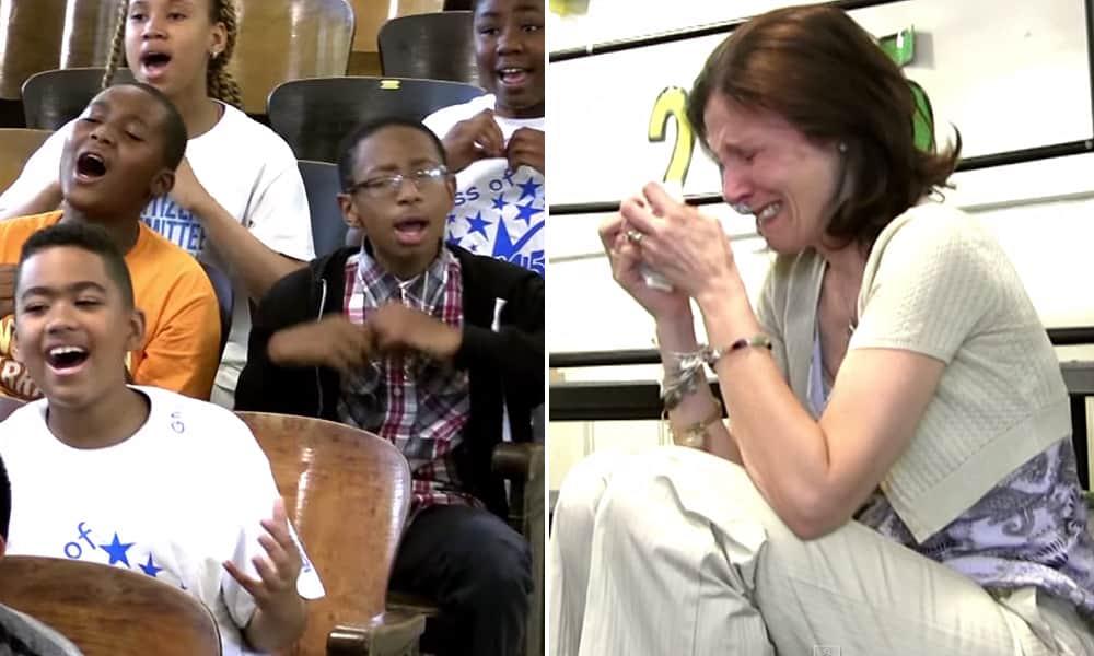 Crianças cantam para homenagear professora com câncer de mama 6