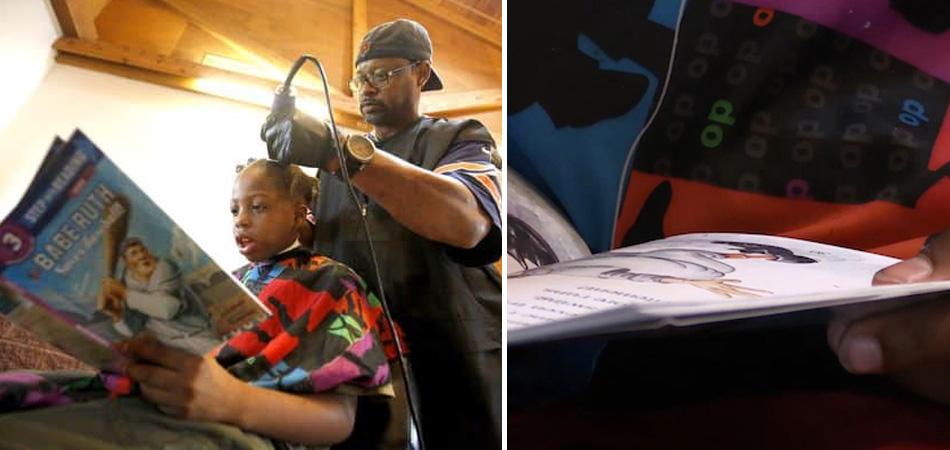Crianças recebem cortes gratuitos desse barbeiro em troca de lerem pra ele 1