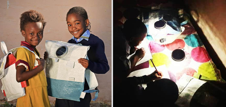 Esta mochila solar é capaz de armazenar luz para crianças da África estudarem a noite 1